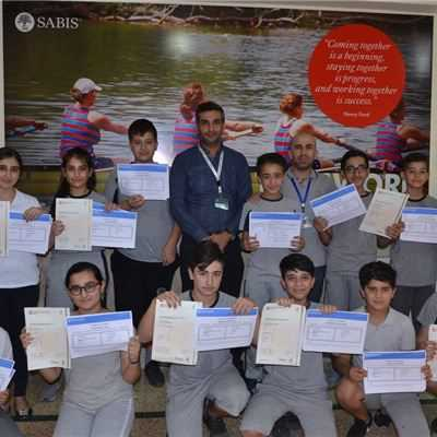SARDAM INTERNATIONAL SCHOOL STUDENTS RECEIVE CAMBRIDGE CHECKPOINT CERTIFICATES FOR ENGLISH AND MATH.