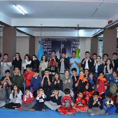 SARDAM IS GR.4 TO GR.10 STUDENTS MEET KICKBOXING INSTRUCTORS AT THE DUHOK STADIUM