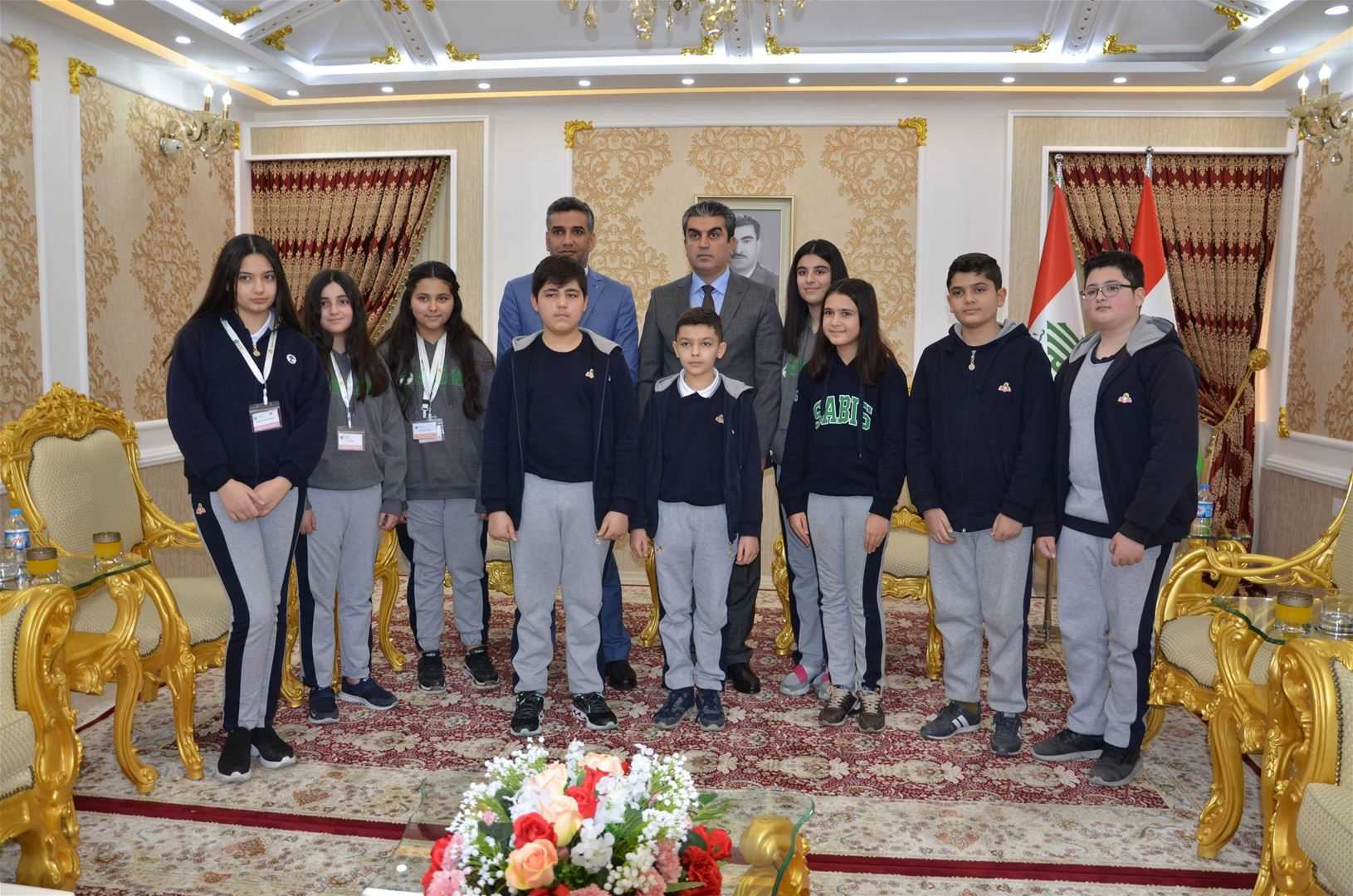 SARDAM IS GR.6 TO GR.10 STUDENTS DISTRIBUTE SLO YEARBOOKS TO THE GOVERNOR AND THE DIRECTORS IN DUHOK
