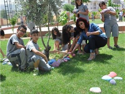 Grades 3-8 Add Colorful Touch to Sardam International School's Garden
