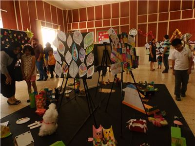 Artwork at Sardam International School's Exhibition