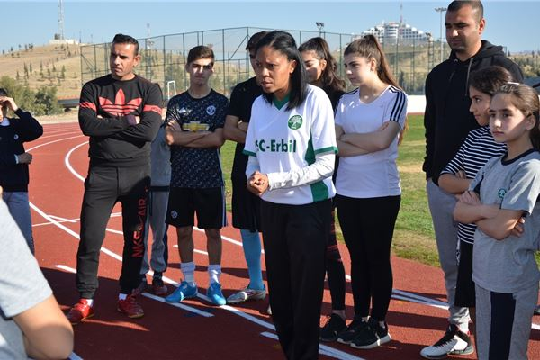 Sardam Attends Sports Event at ISC-Erbil